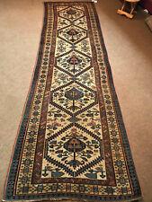 Antique Caucasian Kazak Shirvan Runner 3x10 ft circa 1870