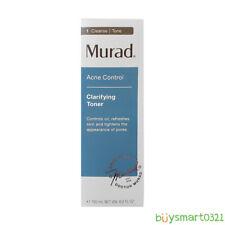 NIB Murad Acne Control Clarifying Toner Controls Oil Pore Tighten 180 ml / 6 oz