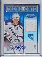 2012-13 Panini Certified Marc Staal Rangers jersey auto SP 33/50 !