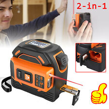 2 in1 131Ft  Laser Tape Measure LCD Magnetic Hook Laser Distance Measure 5m Tape