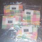 Longaberger Pastel Plaid SPOON BASKET SET 4-Liners ~USA~ Tsp Small Medium Large