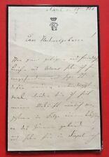 FÜRST ERNST FERDINAND ZU WINDISCH-GRAETZ, Brief mit Unterschrift, dat. 22.1.1868