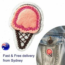 Ice cream cone Iron on patch - yummy gelato scoop waffle summer iron-on patches