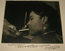 RARE Original LEIGH WIENER 'Billie Holiday w Cigarette' Jazz SIGNED Photograph