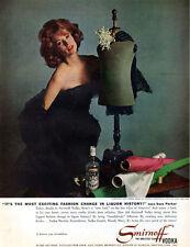 Super Model Suzy Parker SMIRNOFF VODKA Christian Dior Gown 1961 Print Ad