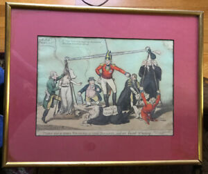 1809 British Political Hand Colored Etching Duke Of York Misconduct
