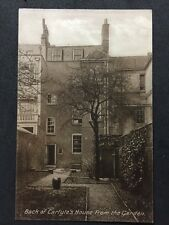 Rare Vintage Postcard - London #C28 - RP Back Of Carlyles House From Garden