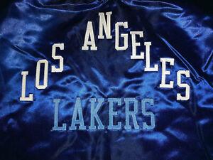 Mitchell Ness Angeles Lakers HWC Heavyweight Satin Full Zipper Royal Blue Jacket