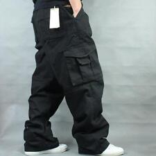 Plus Military Men Long Pants Loose Baggy Carpenter Overall 100% Cotton Trousers