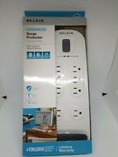 NEW BELKIN 8 Outlets Advanced Surge Protector White factory sealed