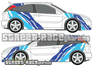 Ford Focus large Tiger stripes 020 decals stickers graphics