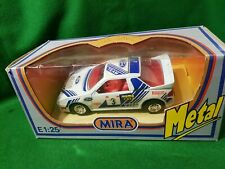 MIRA FORD RS200 1:25 Scale group B rally rs Boxed diecast model