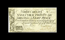 Christian America! Bible on U.S. paper money: 1754 North Carolina colonial NC-80