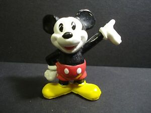 VINTAGE DISNEY MICKEY MOUSE MINIATURE FIGURE WITH WHITE COLOR FACE