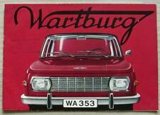 WARTBURG 353 Car Sales Brochure c1968 FRENCH TEXT