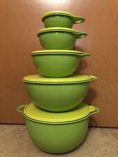 Tupperware Thatsa Bowl Set 2 1/2, 6, 12, 32, 42 Cup Lettuce Margarita Green New