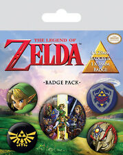Button Badge 5er Pack THE LEGEND OF ZELDA - Game 1x 38mm & 4x 25mm NEU BP80530