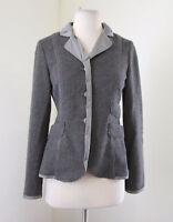 Schumacher Gray Wool Blend Tweed Contrast Blazer Jacket Size M Hungary