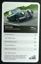 1 x card Top Trumps Jaguar car XK140 – 3.4 Litre XK6 Inline 6 J30