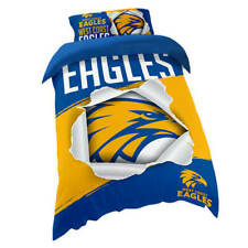 West Coast Eagles AFL SINGLE Bed Quilt Doona Duvet Cover Set *NEW 2020* GIFT