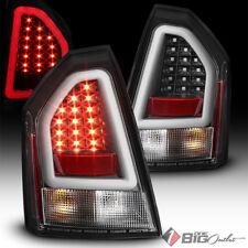 For 05-07 300C Black Led Tail Lights w/ Fiber Optic Led Neon Light Tube