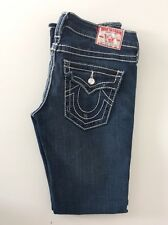 True Religion discoteca Billy Big T Slim Leg Jeans Stretch Azul envejecido tamaño 27
