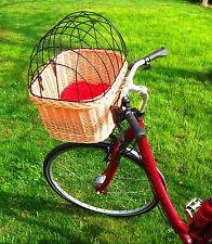 Fahrradkorb für Hunde Katze Hasen Kleintiere aus Weide Transportkorb mit Gitter