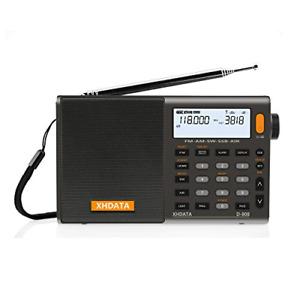 D-808 Portable Digital Radio FM stereo/SW/MW/LW SSB RDS Air Band with LCD Alarm