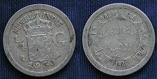 MONETA COIN OLANDA INDIA NEDERLAND INDIE WILHEMINA ¼ GULDEN 1930 ARGENTO SILVER