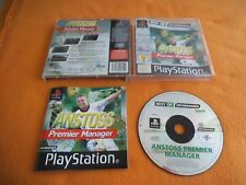 Anstoss Premier Manager Playstation 1 PS