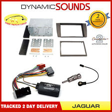Double Din Fascia / Steering / Antenna Adaptor Kit For Jaguar S-Type X-Type