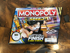 Monopoly Speed Fast Playing Family Friendly Fun Party Board Game Hasbro