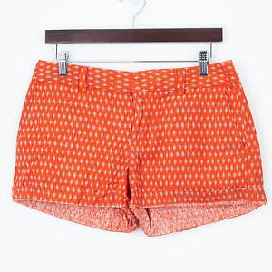 Ann Taylor Loft Tribal Print Linen Shorts Size 4