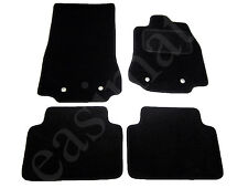 Jaguar XF 2008 - 2015 Tailored Carpet Car Mats Black 4pc Floor Set Metal Rings