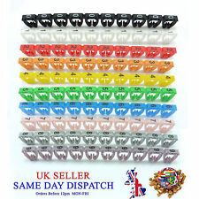 100x Colourful Cable Markers C-Type Marker Number Label Tag 6mm