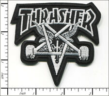 20 Pcs Embroidered Iron on patches Thrasher Skate Music Band Ap056tT2