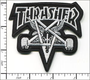 25 Pcs Embroidered Iron on patches Thrasher Skate Music Band  AP056tT2