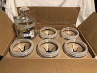 Luminarc Glass Jars 16 ounce for Candle Making x 5 per box