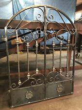 Old World Iron Scroll Garden Gate