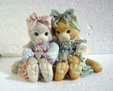 Enesco Calico Kittens We're A Purr-fect Pair #627925 Bow on Ribbon Chip