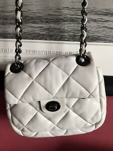 Bimba Y Lola White Quilted Leather Bag