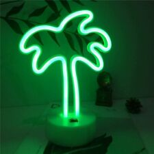 NEON Green Palm Tree With Stand LED Sign Light Lamp Decor Custom Art Home Design
