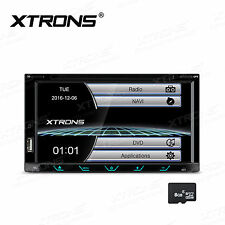 "7"" Double 2DIN In Dash GPS Navi Car DVD Player Bluetooth Auto Stereo Radio USB"