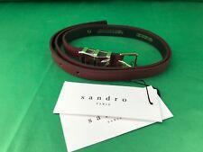 """Sandro Paris Women Bordeaux  Leather Belt Lenth 38"""""""