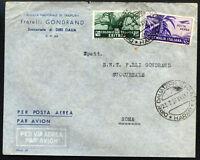 ITALY ERITREA to ITALY air cover HARAR cancel 1939