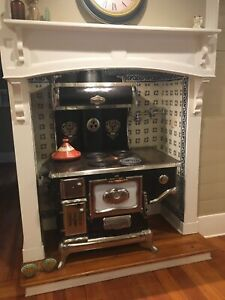 1917 Ornate Wood Cook Stove Converted To Electric NR