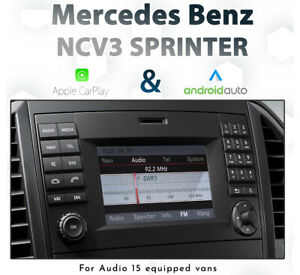 Mercedes Benz NCV3 Sprinter 2012-2018 Touch Apple CarPlay & Android Auto