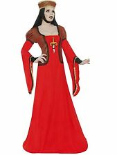 Lady Assassin langes Kleid + Hutband + Kopftuch + Dolch - Gr. M, Smiffy`s,  Larp