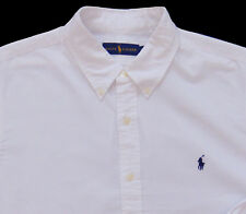 Men's RALPH LAUREN White Pinpoint Cotton Shirt M Medium NWT NEW Nice!