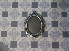 Vintage Inspired 18X13mm Oxidized Silver Plated Swag Design Setting - Qty 2